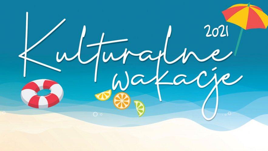 Grafika promocyjna programu wakacyjnych wydarzeń kulturalnych