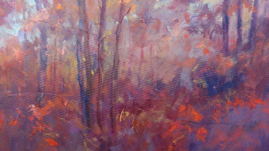 """Na zdjęciu kadr obrazu """"Jesień"""" autorstwa Edwarda Kociańskiego"""