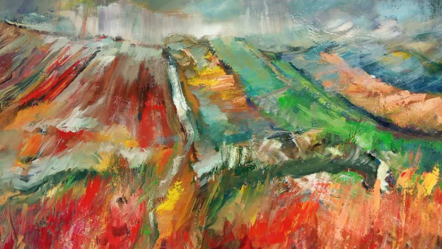 Na zdjęciu kadr z jednej z prac wystawy poplenerowej