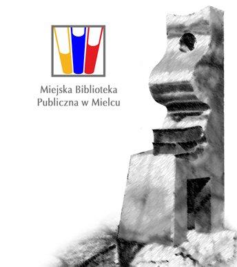 """Grafika przedstawiająca rzeźbę """"Matka-książka"""" usytuowaną w pobliżu Biblioteki"""